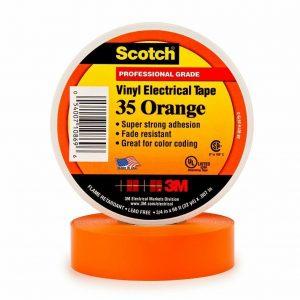 3M Scotch 35 Vinyl Electrical Tape- ORANGE