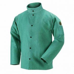 Black Stallion 30 FR Green Welding Jacket Front
