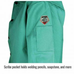 Black Stallion 30 FR Green Welding Jacket Side