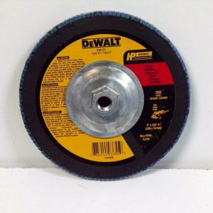 DEWALT Metal Flap Disc 7X58-11 Z60 Grit Top