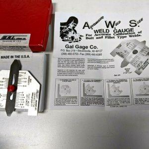 G.A.L Gauge Automatic Welding Size Gauge