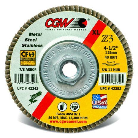 CGW Flap Disc 4-1/2″ X 5/8-11 – 60 Grit - Industrial Supply in Alabaster Alabama