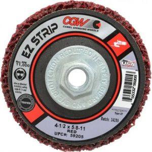 CGW 59205 EZ STRIP WHEEL, 4-1/2″ X 5/8-11- EXTRA COARSE- Indutrial Supply Alabama
