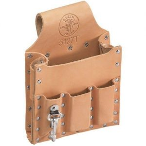 Klein Tools Leather 6-Pocket Tool Pouch with Tunnel Loop - Tools Alabama