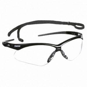 Nemesis Safety Glasses , Black Frame Clear Lens - Safety Supply in Alabama