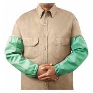 Steiner 9 oz Flame Resistant Weldlite Cotton Sleeves- 18″- Green - Safety and Industrial Supply in Alabaster Alabama