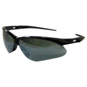 Nemesis Safety Glasses Black Frame Smoke Mirror Lens - Safety Supply in Alabama
