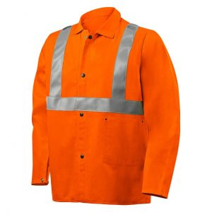 Steiner 30″ 9oz. Orange FR Cotton Jacket with FR Silver Reflective Stripes - Safety and Industrial Supply in Alabaster Alabama